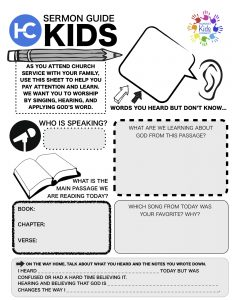 Harvest Kids Sermon Guide