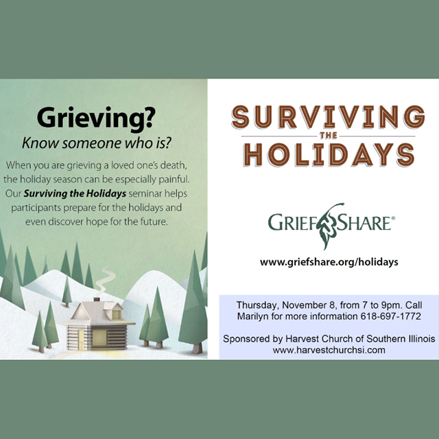 Griefshare: Surviving the Holidays, Nov 8th