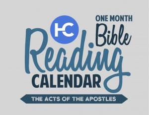 One Month Harvest Bible Reading Calendar - The Acts of the Apostles